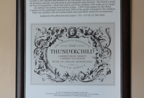 Thunderchild wine in Robertson