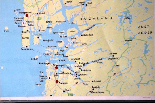 stavanger region map