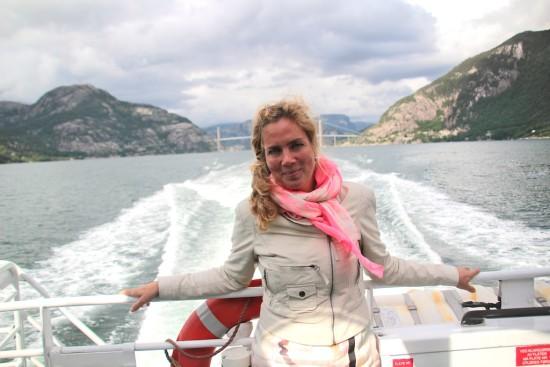 Jeannette van Mullem fjord cruise Stavanger