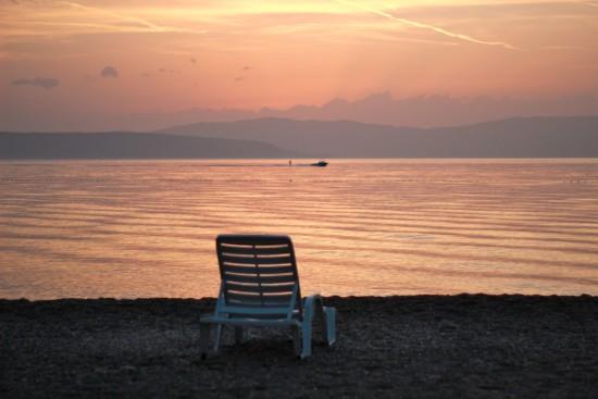 njivice sunset krk croatia kvarner