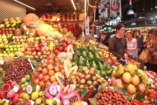 Food markets Barcelona mercat mercats mercado fruits vegetables