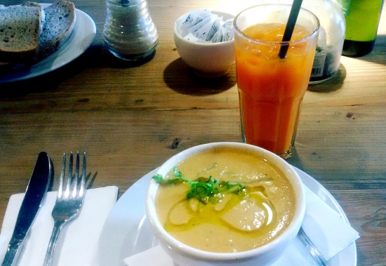 LPQ gazpacho Buenos Aires tips Le Pain Quotidien organic veggie food