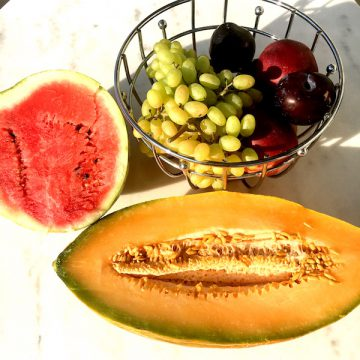 Organic fruit at Socrates Organic Village messolonghi bio net west hellas greece