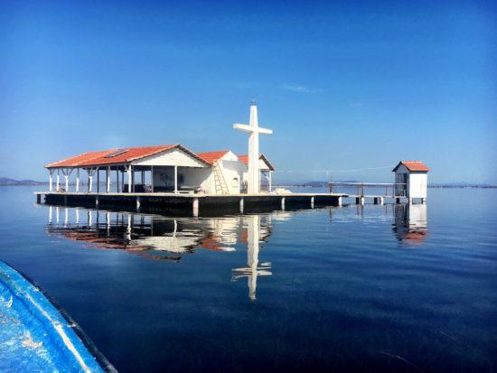 Church Messolonghi lagoon marina