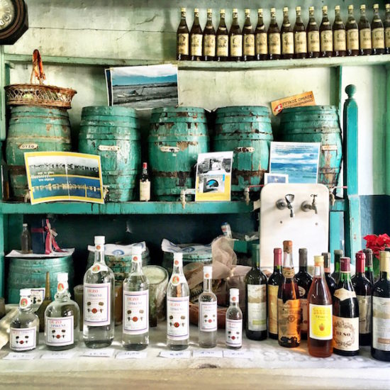 Ouzo shop in Messolonghi