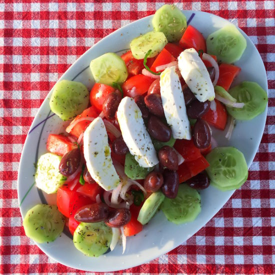 Greek organic salad