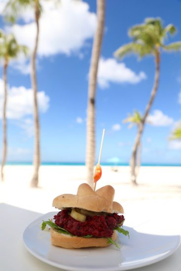 Restaurant Elements Aruba veggie burger beach restaurant